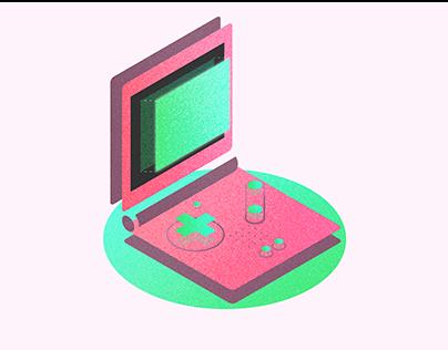 Isometric Nintendo GameBoy Advance (GBA) Design