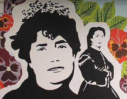 Rosalía de Castro in CASA GALICIA NY. Muralism
