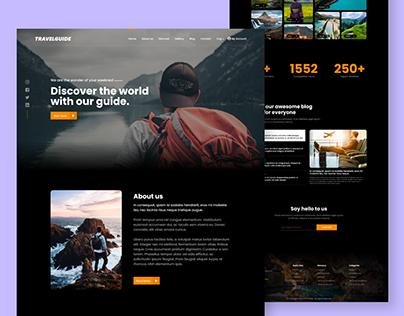 Travelguide. landing page