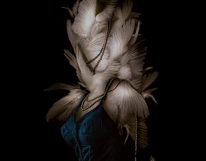 """Miss Disquietude"" // Digital Collage"