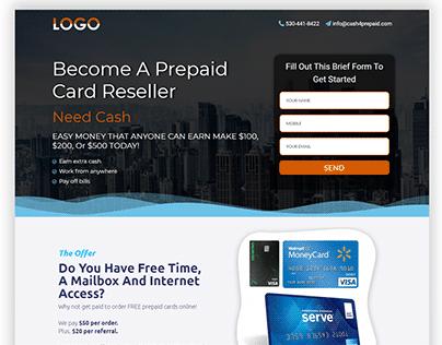 Company Landing Page Design.