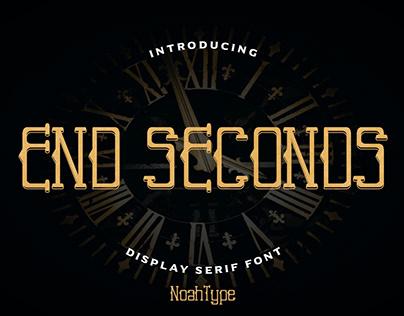 End Seconds Font