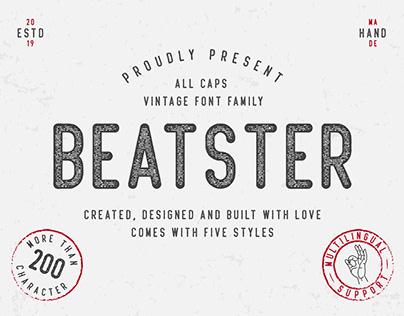 Beatster - Vintage Font Family