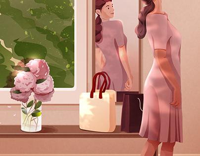 MIJIA米家扫拖机器人节日节气插画创意海报-Julin插画