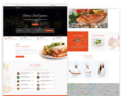 Landing page Design for Food/Restaurants Website