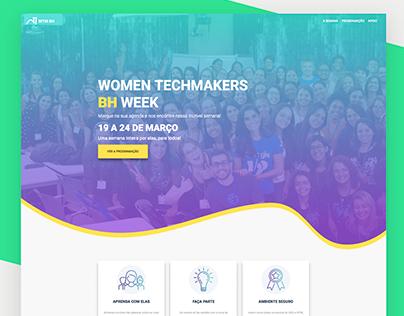 Women Techmakers BH Week Landingpage and Branding