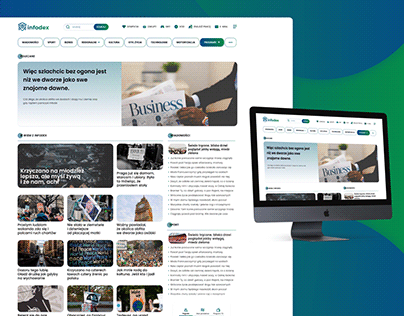 Info & News website - landing page