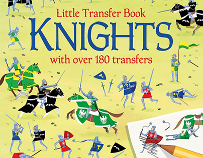 "Little Transfer Book ""KNIGHTS""Illozoo/Usborne Publishig"
