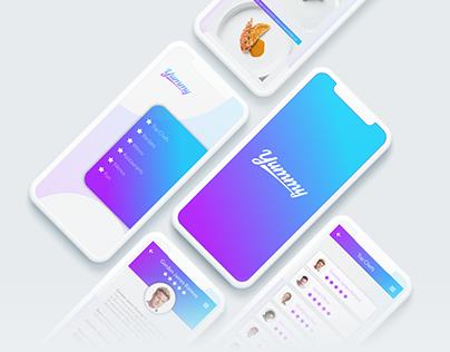 Yummy - Gastronomy Mobile App UI/UX