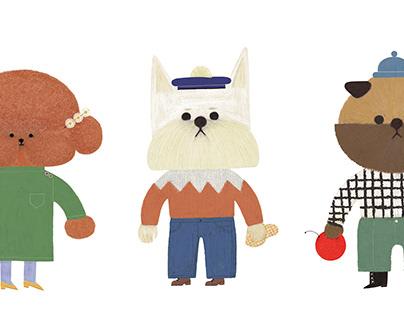 dog illustration : art collaboration