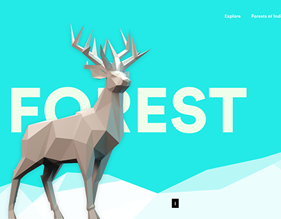 Forest - Low-poly landing page