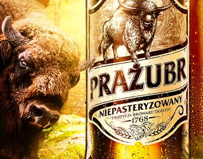 Żubr beer visual concept