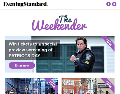 The Weekender newsletter - Layout and Template