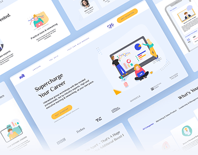 Landing page for business courses