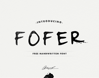 FOFER Handwritten Font