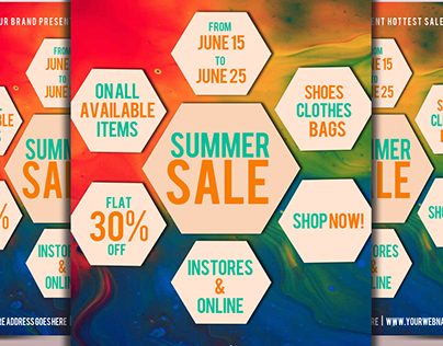 Hot Summer Sale Flyer