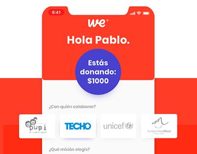 we - Plataforma de donaciones