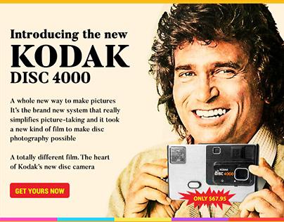 RETRO Series#1 - KODAK DISC 4000 Faux Email Newsletter