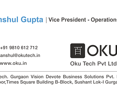 Visiting Card for OKU