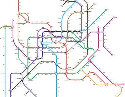 Seoul Subway map redesign