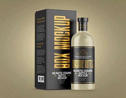 6 Spirits Bottles with Box