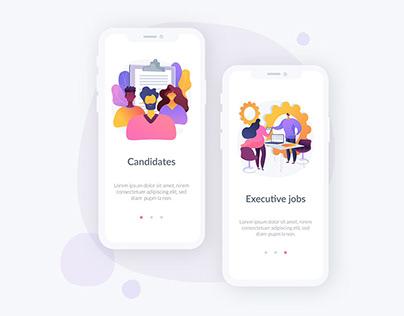HR metaphor illustrations for UI