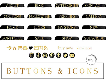 Navigation buttons and icons pack