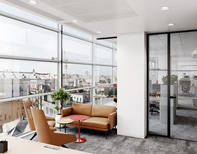 VIZprofistudio JLL Office spaces in Moscow