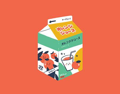 Japanese packagings | Illustrations