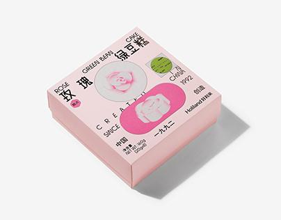 NO.01-Holiland Rose Green Bean Cake 玫瑰绿豆糕