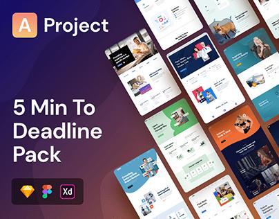 AProject | Responsive Landing Pages Bundle