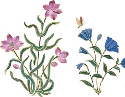 Ornate floral border