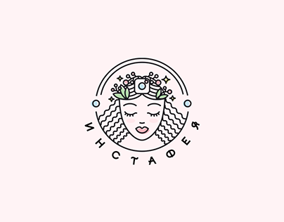 Logotype for online cource in beauty industry