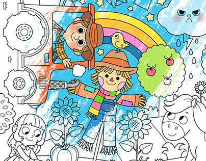 IMA Toys Color-in-Mats
