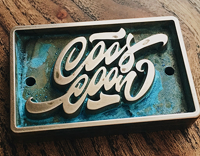 """Hand-Lettered Logo """"Coos Coon"""""""
