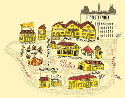 Cité des Femmes - Map of the event