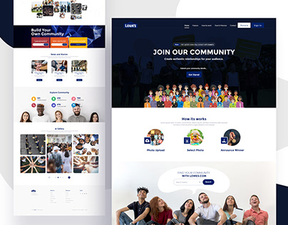 Community Website Home page