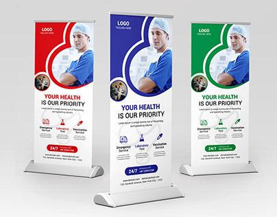Medical Roll Up Banner Design