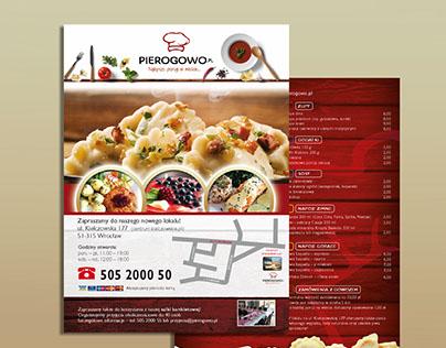 A5 leaflet with bistro menu
