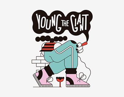 Young the Giant・Tour Tee Illustration