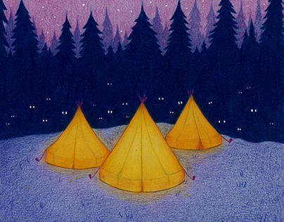 Spooky camping