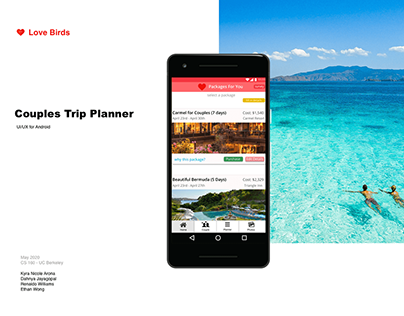 Love Birds Travel Planner - Group 26 Project