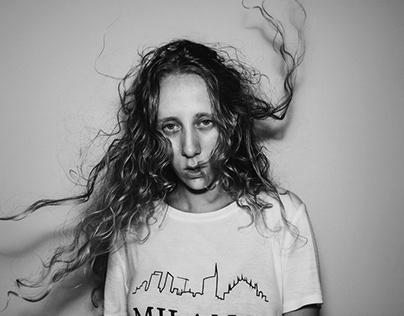 Black and white self portraits