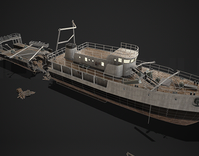 Wrecked ship / Ship's interior