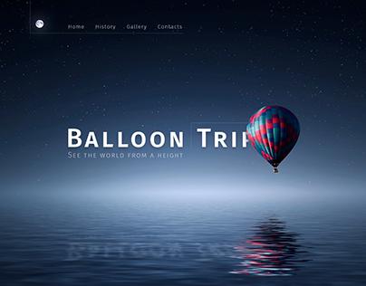 Landing page balloon Trip