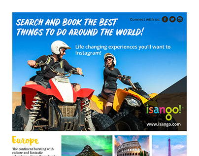 The Gap Year Travel Guide Magazine Page Design