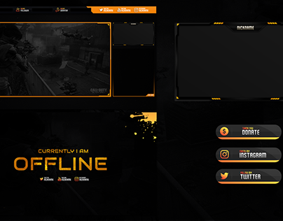 FREE TWITCH STREAM OVERLAY TEMPLATE 2018 #7 BLACK OPS