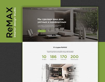 ReMAX interior design Studio   Landing page