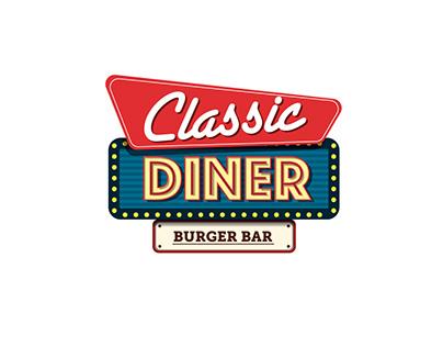 Branding / Classic Diner Burger Bar