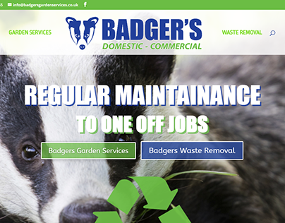Badgers Garden Services - One page website 2017